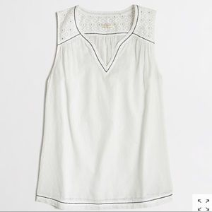 J Crew sleeveless cotton blouse in size 8